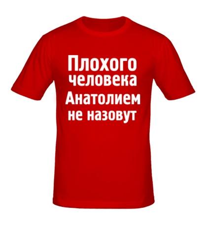 Мужская футболка Плохого человека Анатолием не назовут