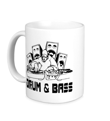 Керамическая кружка Drum & Bass Music