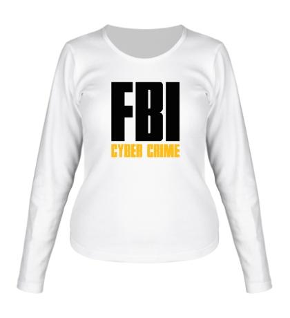 Женский лонгслив FBI Cyber Crime