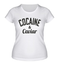 Женская футболка Cocaine & Caviar