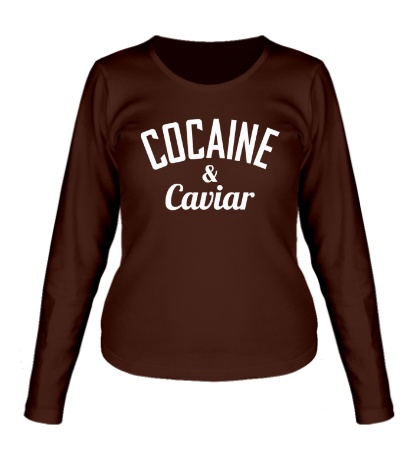 Женский лонгслив Cocaine & Caviar