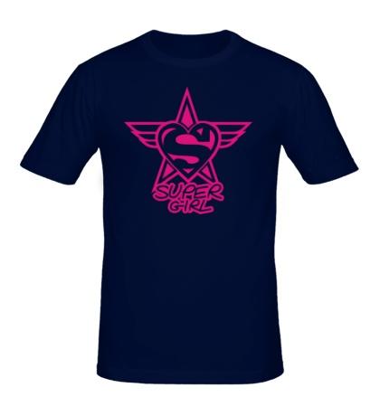 Мужская футболка Super Girl