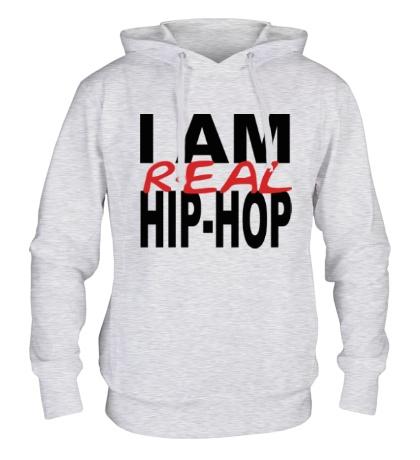 Толстовка с капюшоном I am real hip-hop
