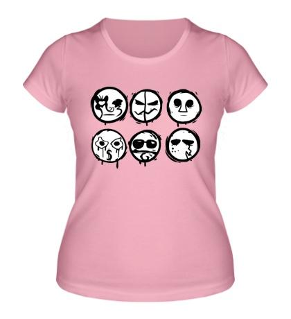 Женская футболка Рожицы