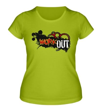 Женская футболка Workout Art