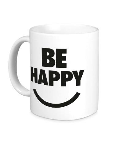 Керамическая кружка Be Happy