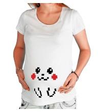 Футболка для беременной 8-bit Pikachu