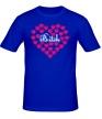 Мужская футболка «Bitch сердце» - Фото 1