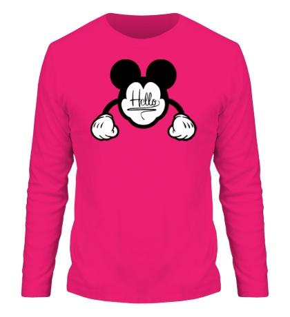 Мужской лонгслив Hello, Mickey Mouse