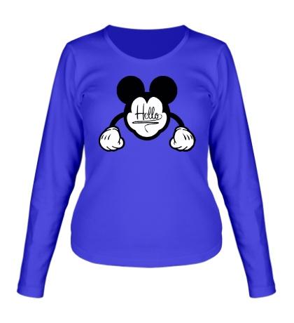 Женский лонгслив Hello, Mickey Mouse