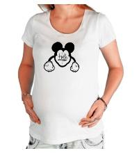 Футболка для беременной Hello, Mickey Mouse