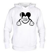 Толстовка с капюшоном Hello, Mickey Mouse