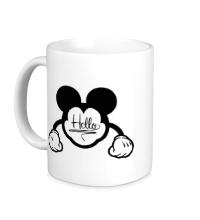 Керамическая кружка Hello, Mickey Mouse