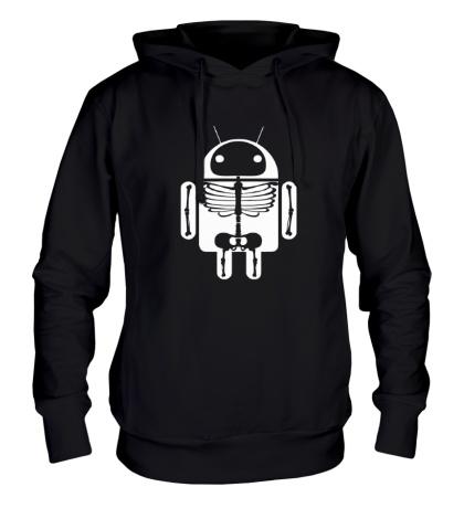 Толстовка с капюшоном Скелет Android