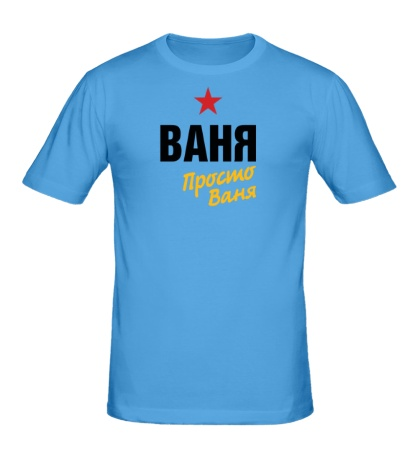 Мужская футболка Ваня, просто Ваня