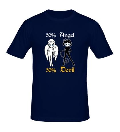 Мужская футболка 50% Angel 50% Devil