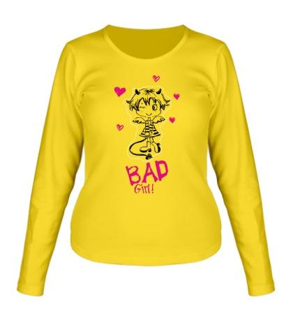 Женский лонгслив Bad Girl