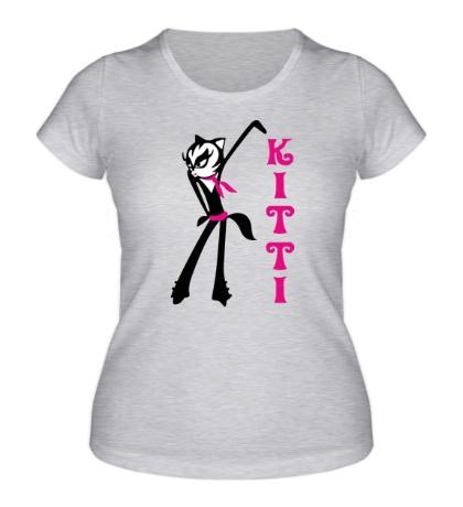 Женская футболка Black Kitty