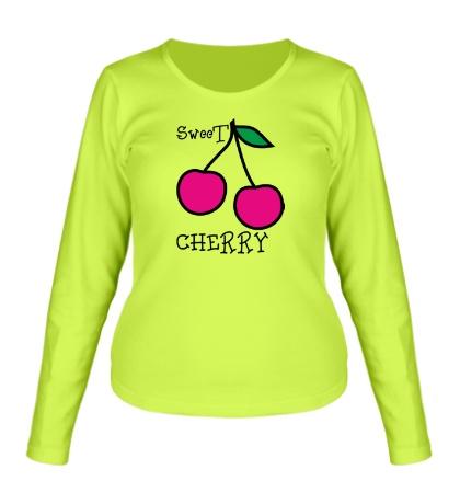 Женский лонгслив Sweet cherry