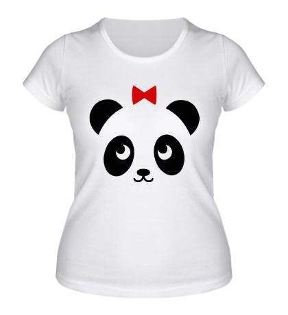 Женская футболка Панда, для нее