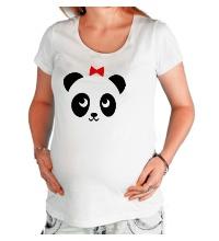 Футболка для беременной Панда, для нее