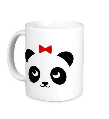 Керамическая кружка Панда, для нее