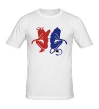 Мужская футболка Angel-devil
