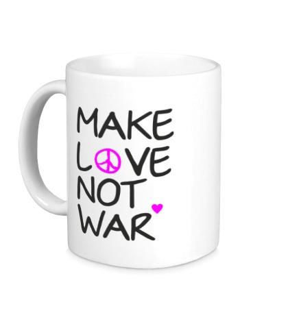 Керамическая кружка Make love not war