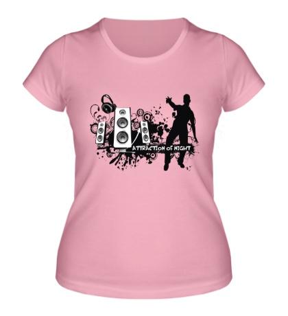 Женская футболка Attraction of night