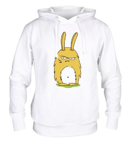 Толстовка с капюшоном Угрюмый заяц
