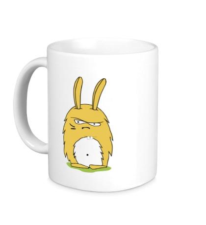Керамическая кружка Угрюмый заяц