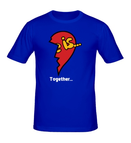Мужская футболка Сердце love is
