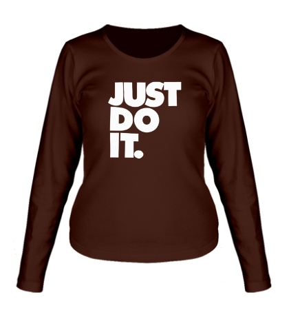 Женский лонгслив Just Do It: Classic
