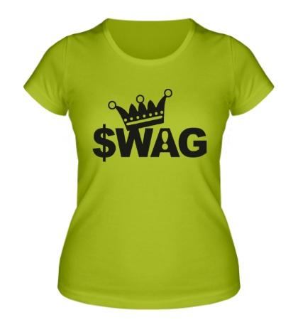 Женская футболка SWAG King