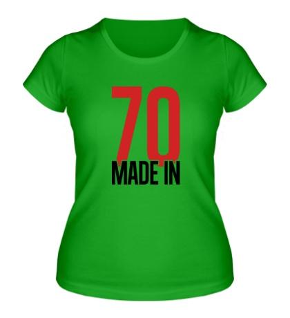 Женская футболка Made in 70s