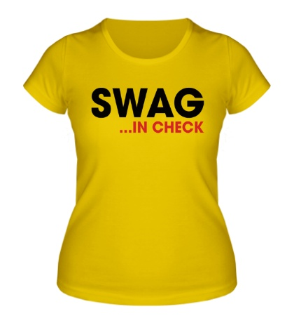 Женская футболка Swag in Check