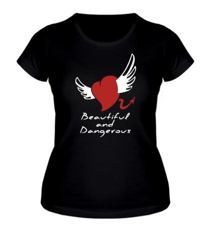 Женская футболка Beautiful and Dangerous