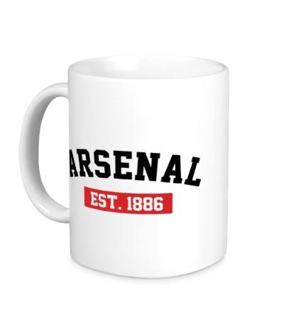 Керамическая кружка FC Arsenal Est. 1886