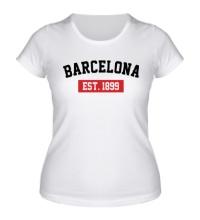 Женская футболка FC Barcelona Est. 1899