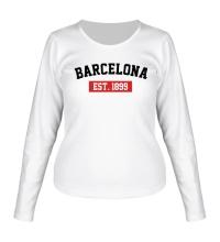 Женский лонгслив FC Barcelona Est. 1899