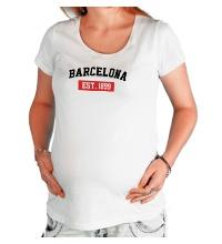 Футболка для беременной FC Barcelona Est. 1899