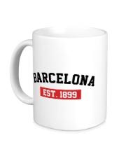 Керамическая кружка FC Barcelona Est. 1899