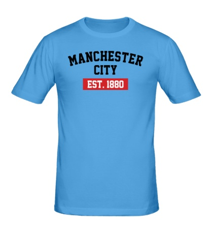 Мужская футболка FC Manchester City Est. 1880