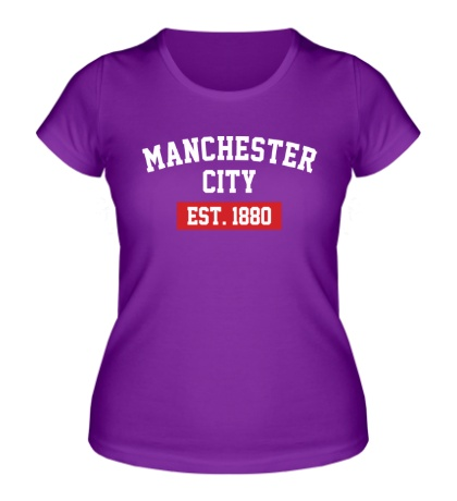 Женская футболка FC Manchester City Est. 1880