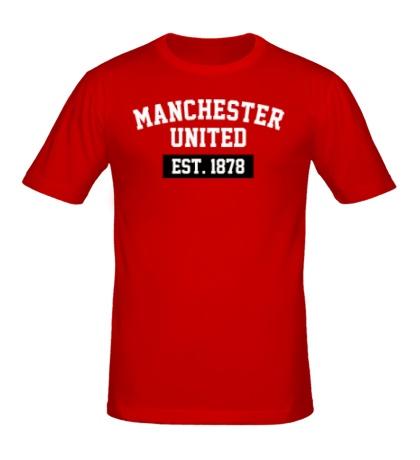 Мужская футболка FC Manchester United Est. 1878