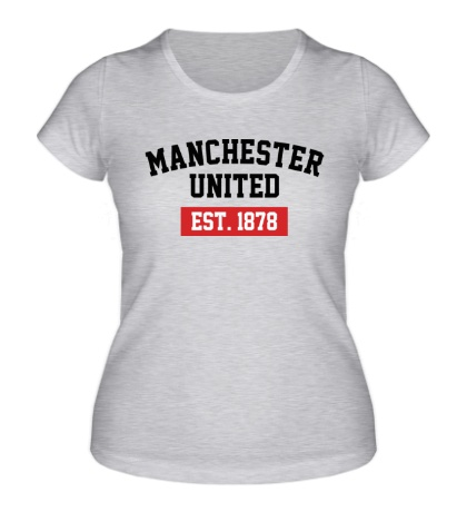 Женская футболка FC Manchester United Est. 1878