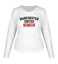Женский лонгслив FC Manchester United Est. 1878