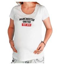 Футболка для беременной FC Manchester United Est. 1878