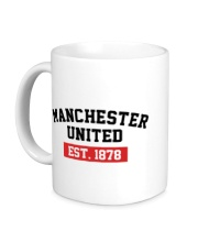 Керамическая кружка FC Manchester United Est. 1878