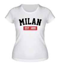 Женская футболка FC Milan Est. 1899